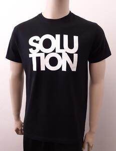 Tričko pánské s nápisem / více druhů, black SOLUTION   XL - 1