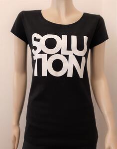 Tričko dámské s nápisem / více druhů, black SOLUTION | XL - 1