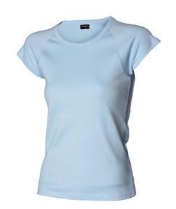 Tričko dámské raglánový rukáv, skyblue | L - 1