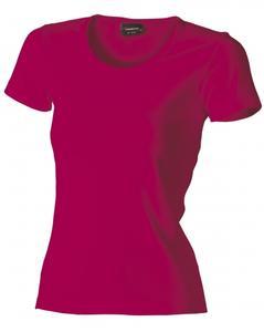 Tričko dámské krátký rukáv, darkfuchsia | S