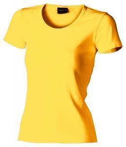 Tričko dámské krátký rukáv, yellow | XXL