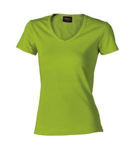 Tričko dámské krátký rukáv v-výstřih, applegreen | XL