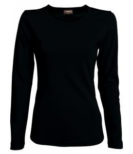 Tričko dámské dlouhý rukáv, black | XL