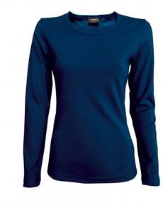 Tričko dámské dlouhý rukáv, navy   | L