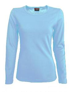 Tričko dámské dlouhý rukáv, skyblue   | S