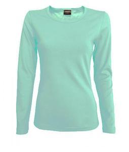 Tričko dámské dlouhý rukáv, icegreen | L