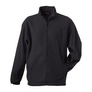 Mikina pánská fleece, black | S