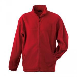 Mikina pánská fleece, red  | L