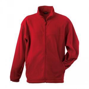 Mikina pánská fleece, red    S