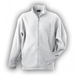 Mikina pánská fleece, white   XXL