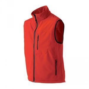 Softshellová vesta pánská, red | XL