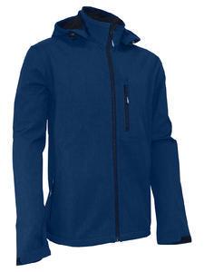 Softshellová bunda pánská, navy-melange | 3XL - 1