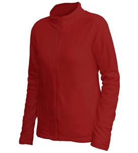 Mikina dámská fleece, kapsy, marsala | L