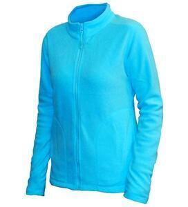 Mikina dámská fleece, kapsy, atolblue | XL