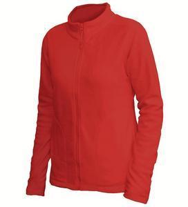 Mikina dámská fleece, kapsy, red | L