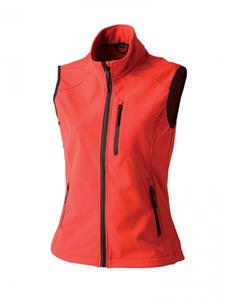 Softshellová vesta dámská, red | M