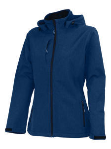 Softshellová bunda dámská, navy-melange | S - 1