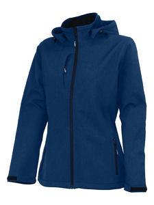 Softshellová bunda dámská, navy-melange | L - 1