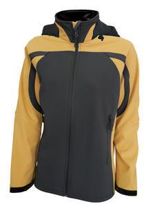 Softshellová bunda dámská kapuce, yellow | S