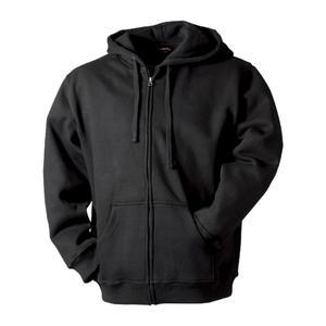 Mikina pánská kapuce zip, black | XL