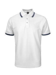 Polokošile pánská, white/navy | XL