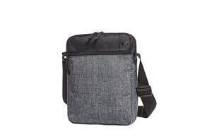 Crossbag elegance, black / greymelange