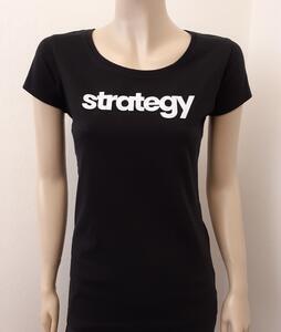 Tričko dámské s nápisem / více druhů, black STRATEGY | L - 1