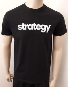 Tričko pánské s nápisem / více druhů, black STRATEGY | XL - 1