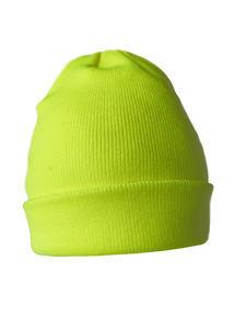 Čepice zimní, neon yellow