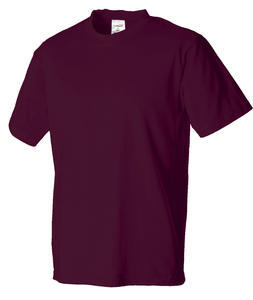 Tričko pánské krátký rukáv, maroon | L