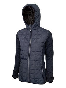 Bunda dámská combi pletený fleece, anthracite-melange/ black-melange | M - 1