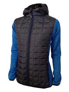 Bunda dámská combi pletený fleece, anthracite-melange/ blue-melange | XL - 1