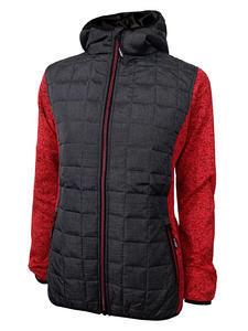 Bunda dámská combi pletený fleece, anthracite-melange/ red-melange | M - 1
