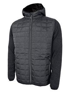 Bunda pánská combi pletený fleece, anthracite-melange/ black-melange | 3XL - 1