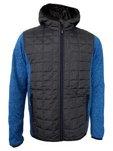 Bunda pánská combi pletený fleece, anthracite-melange/ blue-melange | 3XL - 1