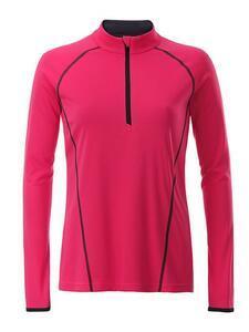 Dámské sportovní triko dlouhý rukáv, Bright Pink | M