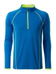 Pánské sportovní triko dlouhý rukáv, Bright Blue | XL