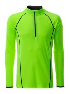 Pánské sportovní triko dlouhý rukáv, Bright Green | S