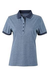 Polokošile dámská single jersey melír, blue melange/ navy | XXL - 1
