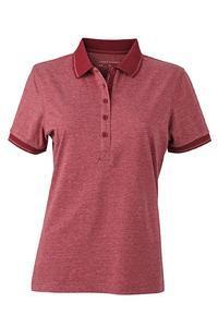Polokošile dámská single jersey melír, wine melange/ wine | XL - 1
