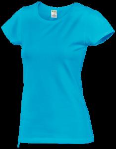 Tričko dámské krátký rukáv, atolblue | M