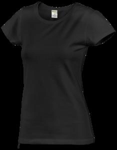 Tričko dámské krátký rukáv, black | M - 1