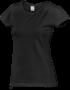 Tričko dámské krátký rukáv, black | M - 1/2