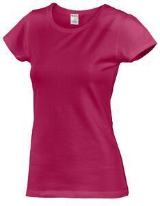 Tričko dámské krátký rukáv, darkfuchsia | L