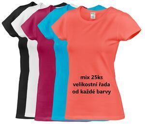 Tričko dámské krátký rukáv, mix barev | S, M, L, XL, XXL