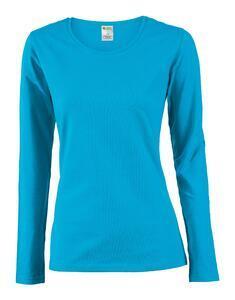 Tričko dámské dlouhý rukáv, atolblue | M - 1