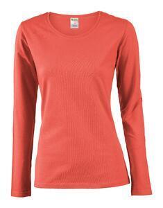 Tričko dámské dlouhý rukáv, cayenne | XL