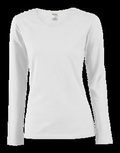Tričko dámské dlouhý rukáv, white | S - 1
