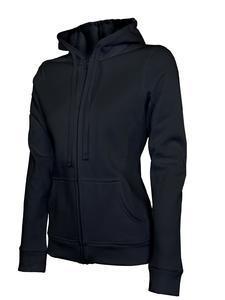 Mikina dámská s kapucí na zip, black   L