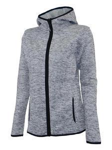 Mikina dámská s kapucí pletený fleece, light-melange | M - 1